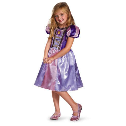 Disguise Disney's Tangled Rapunzel Sparkle Classic Girls Costume, 4-6X (Tangled Rapunzel Dress)