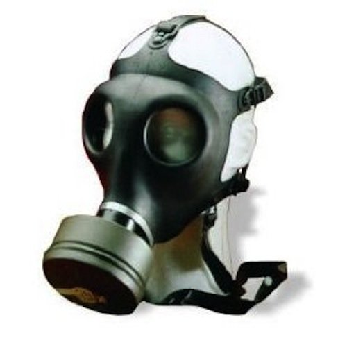 Israeli Military Spec Gas Mask NBC 40mm Full Face Emergency Preparedness Respirator - Made in 2017 (150 - Med/Lrg Gas Mask) by DISKIN