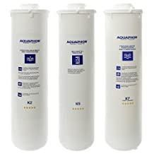 Aquaphor Replacement Water Filters Cartridges for Aquaphor RO-101 Reverse Osmosis System with Remineralizer (Set of 3 (K2 K5 K7M) - 12 month)