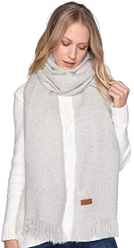- UGG Women's Boucle Knit Wrap Light Grey Heather One Size