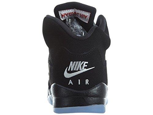 Nike Jungen Air Jordan 5 Retro Og Bg Basketballschuhe Black (Schwarz / Feuer-Rot-Metallic-Silber-Weiß)