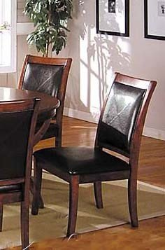 Set of 2 Dining Chairs Mahogany Finish