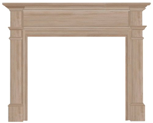 Pearl Mantels 120-56 Windsor Fireplace Mantel Surround, 56-Inch, -