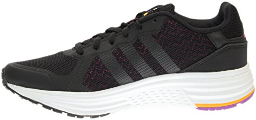 adidas NEO mujer Cloudfoam Flyer W Running Shoe Negro/Rosa (Black/Shock Pink)