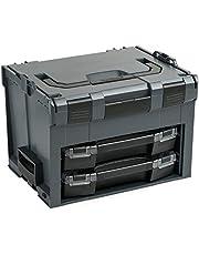 Bosch Sortimo LS-BOXX 306 Gereedschapskoffer, antraciet, uitgerust met 2 x i-Boxx, leeg, transportsysteem, ideaal gereedschap