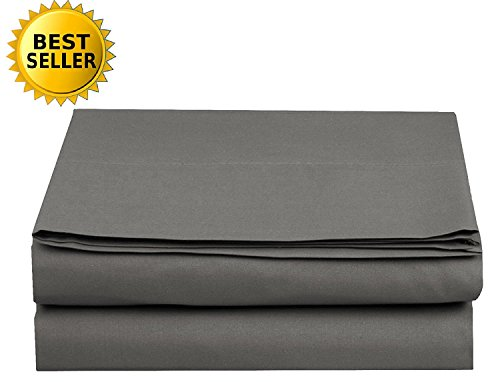 Luxury Fitted Sheet on Amazon! - HIGHEST QUALITY Elegant Comfort Wrinkle-Free 1500 Thread Count Egyptian Quality 1-Piece Fitted Sheet, California King Size, Grey