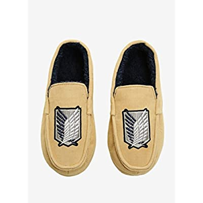 Hot Topic Attack on Titan Corduroy Moccasin Slippers