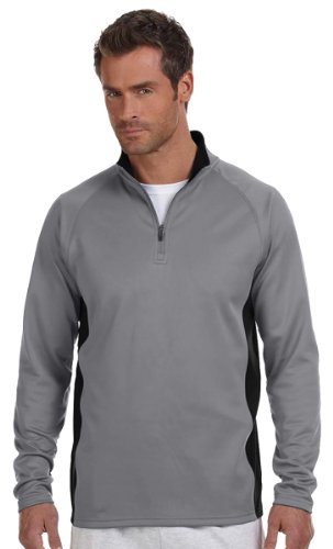 Champion S230 Adult Performance 1 By 4 - Zip Jacket - Stone Grey & Black, 2XL