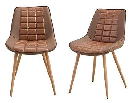 Folkbury set di sedie in metallo stile nordico scandinavo