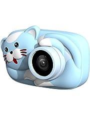 كاميرا رقمية للأطفال من Honorall Mini Cartoon 26MP 1080P كاميرا فيديو 2.4 بوصة IPS شاشة مزدوجة عدسة كاميرا قابلة للشحن مضادة للصدمات مع بطاقة ذاكرة 16GB هدية عيد الميلاد LMZHONORALLD7865BLCSA