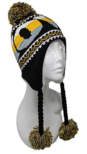 ChoKoLids Football Team City Name Knitted Pom Pom Earflap Winter Hat - 23 Cities (Iowa)