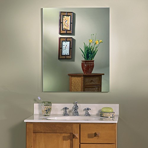 Mirror Medicine Frameless Flat Cabinet (Jensen Medicine Cabinet Metro Oversize Deluxe 20W x 25H in. Medicine Cabinet 52WH254DP)