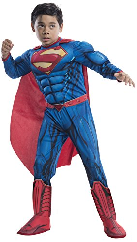 Rubie's Costume DC Superheroes Superman Deluxe Child Costume, Medium (Boys Superman Costume)