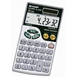 Wholesale CASE of 10 - Sharp 10-Digit Metric Conversion Travel Calculator-10-Digit Metric Calculator,w/wallet,2-3/4''x4-7/8''x1/4'', GRY