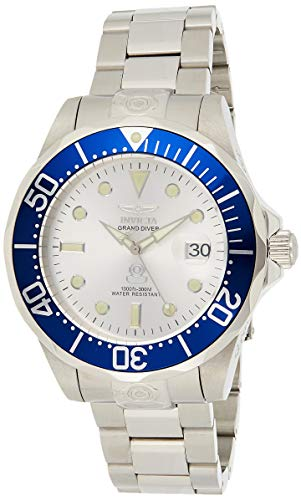 Invicta Men's Pro Diver Automatic 3 Hand Silver Dial Stainless Steel Band Watch - 3046