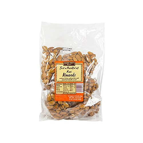 Trader Joe's Just a Handful of Raw Almonds 13 Individual Bags