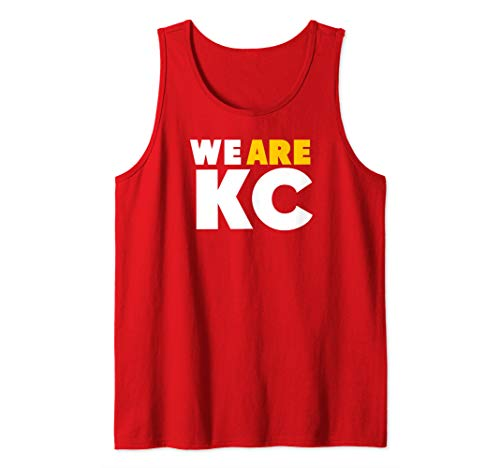KC Chief Red Football We Are Kansas City Pro Tailgate Wear Tank Top ()