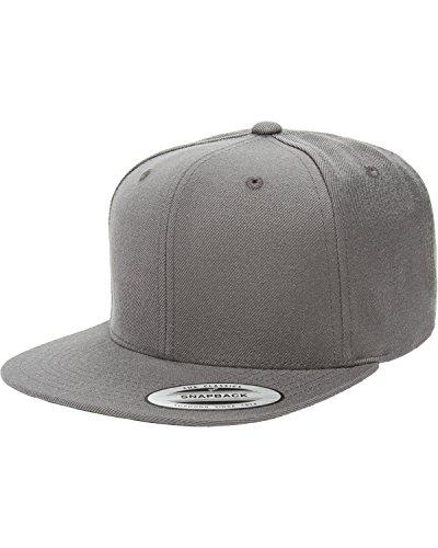 Flexfit/Yupoong 6089M,6089MT,6089CAMO 6 Panel Premium Classic Snapback Hat Cap (Dark - Snapback Flexfit