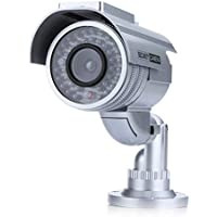 Tomvision White colour Solar Powered Emulation Fake/Dummy Security Camera with IR Red LED Light Indoor Outdoor…