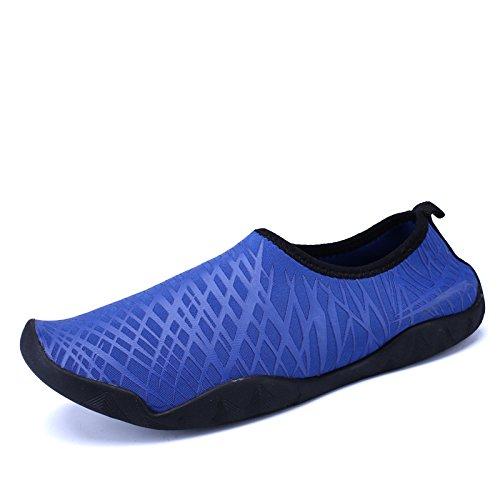 Lucdespo seguridad rápido Blue calzado buceo libre aire pegada antideslizante luz calzado de de natación piel snorkeling de playa Piscina zapatos secado al de YprqY1