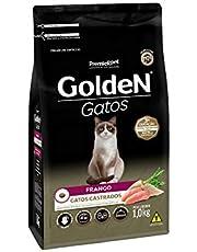 Ração Golden para Gatos Adultos Castrados Sabor Frango - 1kg Premier Pet para Todas Todos os tamanhos de raça Adulto - Sabor Frango