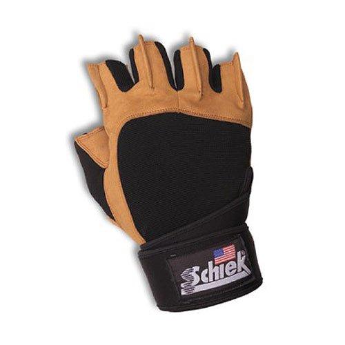 Schiek SSI-425-M Power Gel Lifting Gloves with Wrist Wraps 8 9 Medium