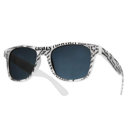 de New espejo o marca gafas sol de UV400 white sol 4sold gafas Unisex newspaper nbsp;lente EqwgqH