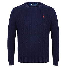 Ralph Lauren Men's Cable-Knit Cotton Sweater Jumper