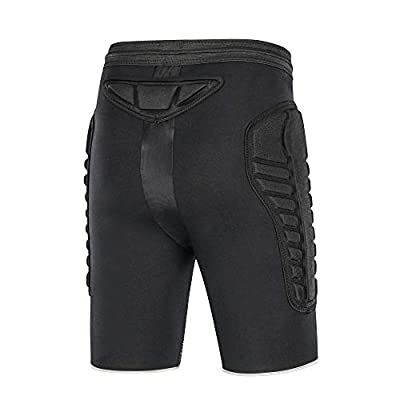 TUOY Mens Tri-Flex Padded Compression Shorts Undershort for Cycling, Ice Skating : Clothing