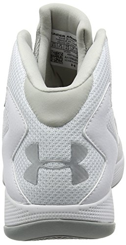 Under Armour UA Lockdown, Chaussures de Basketball Homme, Blanc (Blanc 102), 42 EU