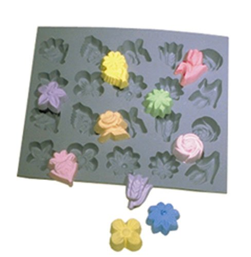 Flower Assortment, Rubber Mold by Voorhees Rubber (Image #1)
