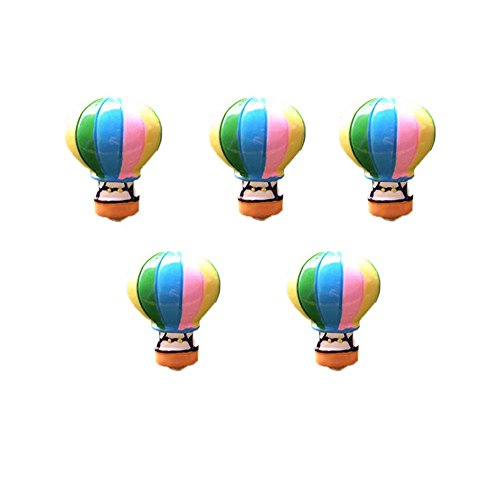 COOLTOP 5pcs Miniature Hot Air Balloons Fairy Garden