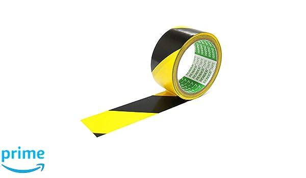 Globaldream Cinta de advertencia Adhesivo fuerte Negro y amarillo Peligro Advertencia Cinta de precauci/ón de banda de seguridad 13M x 45MM
