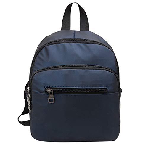(HongMong Women's Solid Color Backpack Waterproof Shoulder Bag Large Capacity Computer Bag)