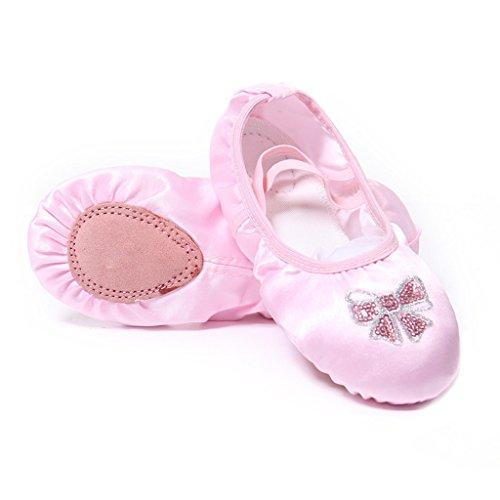 Plate Chaussures Gymnastique Yoga Chausson Rose Satin Doux Pilates Danse Ballet homme Femme nbsp;pour Dogeek Split Chaussure Ballerine De q1HHPY