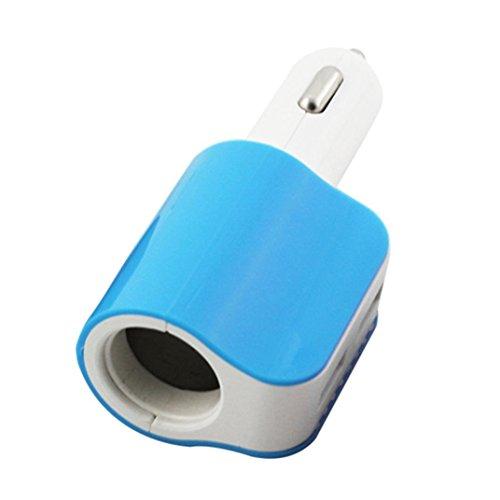 Car Charger,SMTSMT Car Cigarette Lighter Socket Splitter Charger Power Adapter (Blue) by SMTSMT (Image #3)