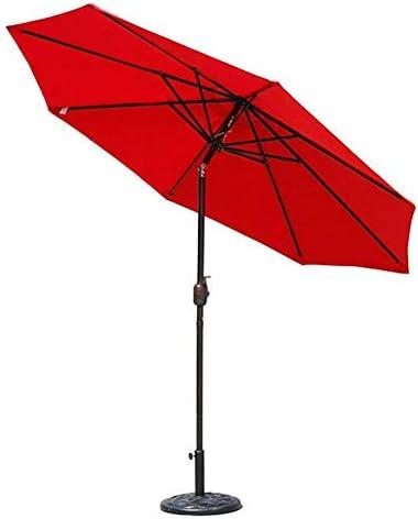 パラソル傘市場パティオ屋外ガーデン芝生鋼太陽キャノピーUV保護270 cm * 230 cm(色:ダークグリーン)