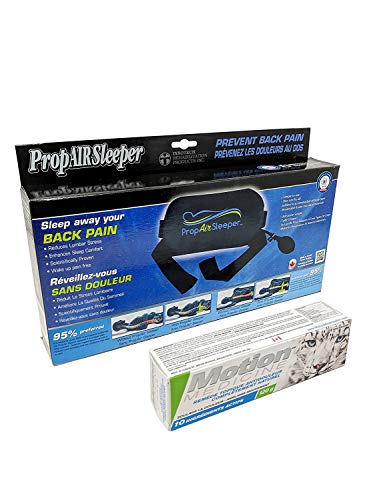 INNOTECH Bundle of 2 Items: PropAir Sleeper Back Pillow and Motion Medicine 4oz