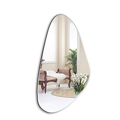 FXNN Bathroom Mirror - Simple Frameless Wall Mirror Shell Shaped Mirror (Color -
