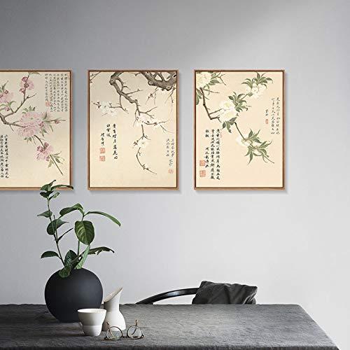 Chinesische Dekorative Elegante botanische Wohnzimmerdekorationsmalerei und Wandmalerei Malerei A Schlafzimmermalerei Elegante DEED Blumenmustermalerei Moderne qEZwFxUT