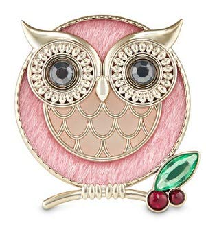 Bath and Body Works Pink Winter Owl Visor Clip Scentportable Holder.