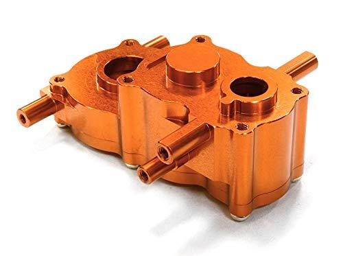 (Integy RC Model Hop-ups C26507ORANGE Billet Machined Center Gear Box for HPI 1/10 Scale Crawler King)