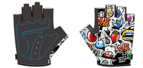Cycling Gloves, Mountain Bike Gloves, Bike Riding Gloves for Kids, Breathable Anti Slip for Half Finger Shock Absorbing for Road Bicycle