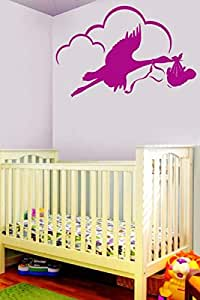 Walliv Bird And Baby Wall Sticker Art Decal [wa0103]