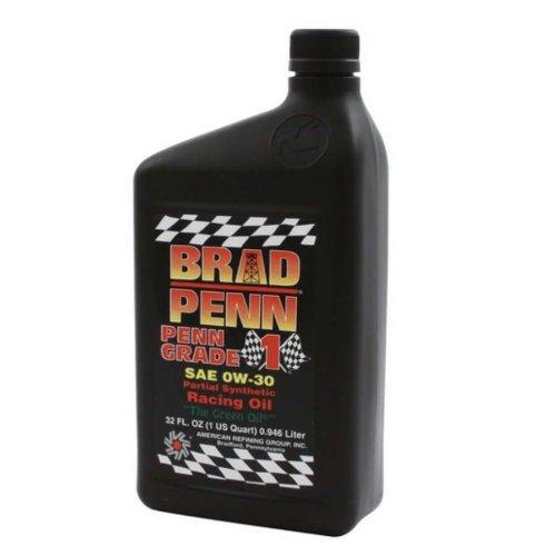 Brad Penn 009-7126-12PK 0W-30 Partial Synthetic Racing Oil - 1 Quart Bottle, (Case of 12)