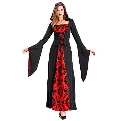 pangxiannv Women Halloween Cosplay Ghost Devil Costume Witch Medieval Dress Halloween Cosplay Dress ()