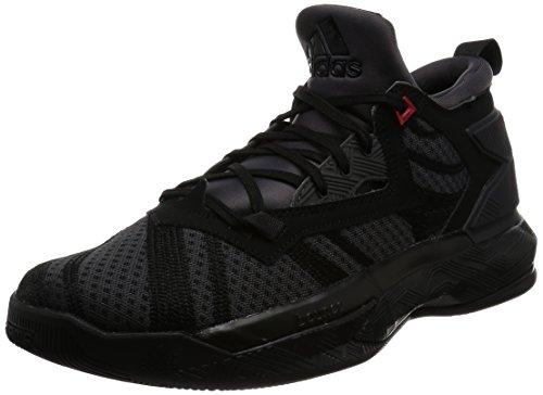 adidas D Lillard 2, Scarpe da Basket Uomo Nero (Negbas / Neguti / Rojint)