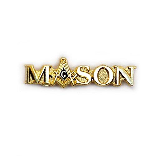Masonic Lapel Pin Script & Emblem D42