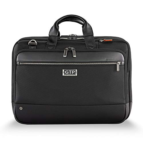 Briggs & Riley Unisex-Adult (Luggage only) Briefcase, Black, Monogramming Included