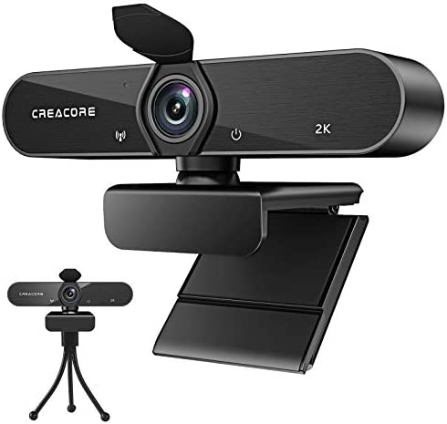 Webcam with Microphone,Full HD 1080P USB Webcam Autofocus 30fps Plug and Play 140 Degree Wide Angle with Privacy Cover and Tripod for Desktop Laptop Computer Compatible with Live Streaming Zoom